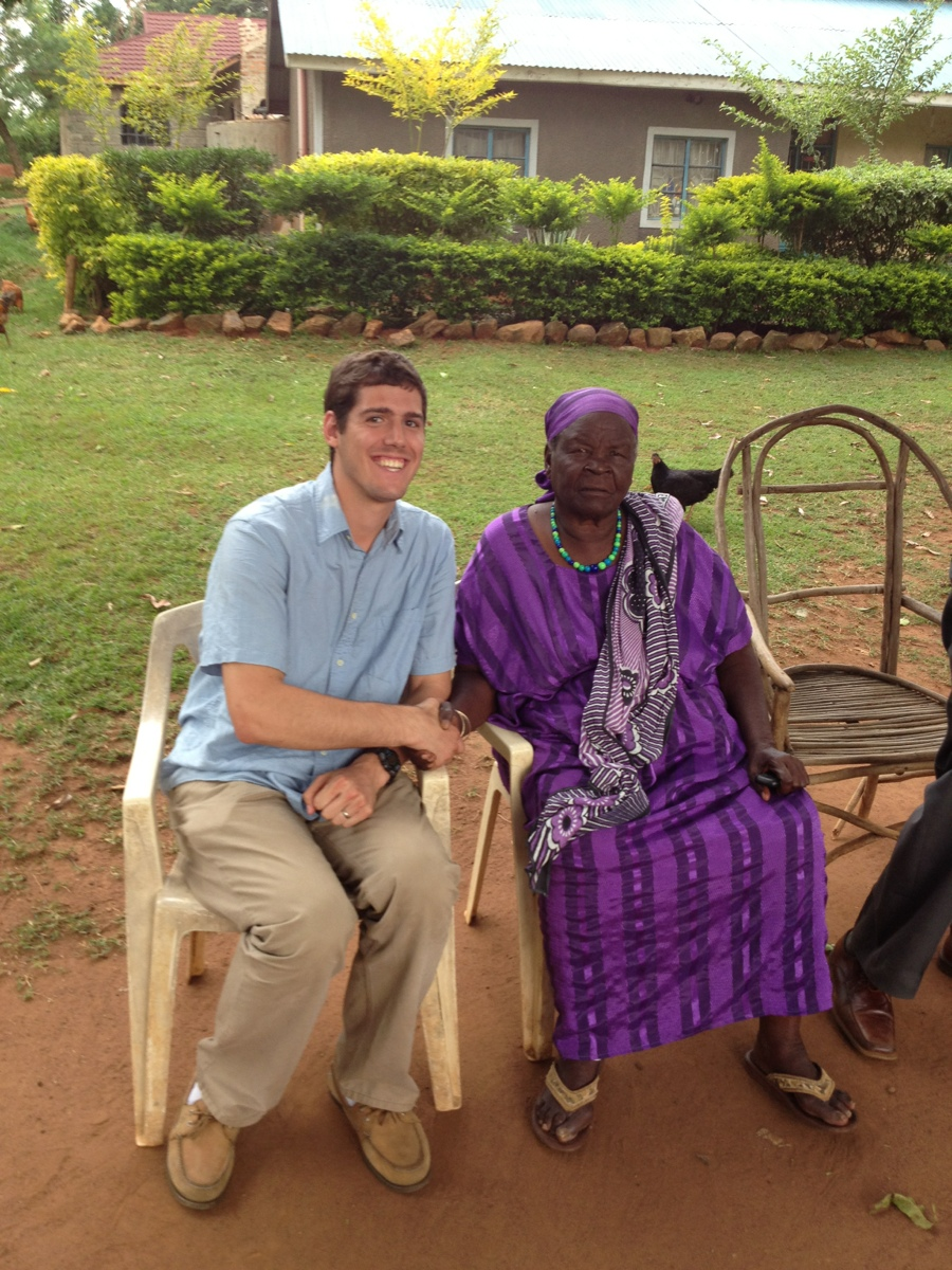 Me with Mama Sarah Obama- Barack's Grandmother!